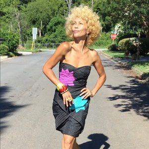 OOAK gaultier x Target handpainted strapless dress